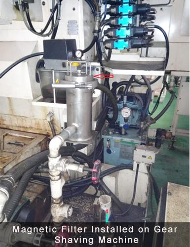 magnetic filter gear shaving machine